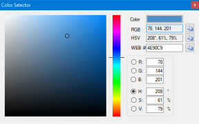 Color selection tool